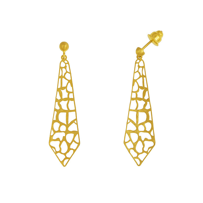 14K Yellow Gold Cut-Out Earrings