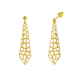 14K Yellow Gold Cut-Out Earrings, SOLD