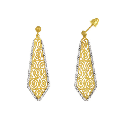 Italian Diamond Drop Earrings