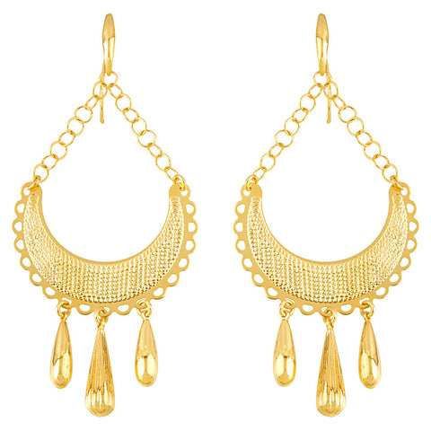 14k Yellow Gold Dangle Earrings, SOLD