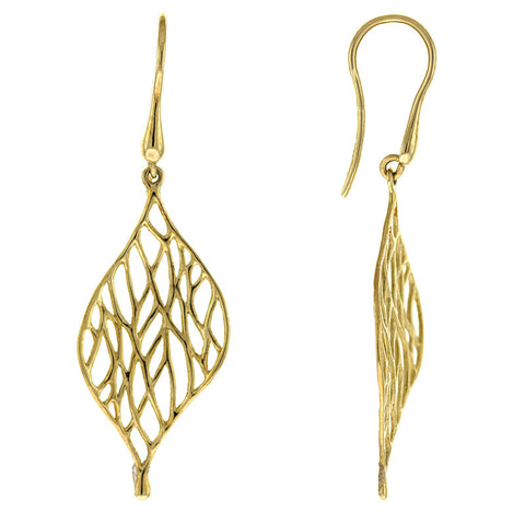 14K Gold Chain Tassel Earrings