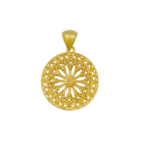 14K Yellow Gold Filigree Earrings