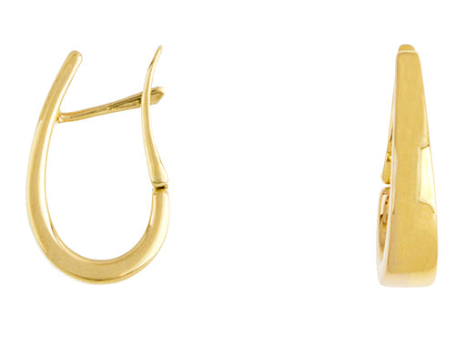 14K Gold Tapered Hoop Earrings, SOLD