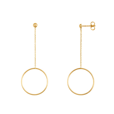 14k White Gold Textured Circle Earrings
