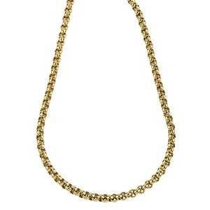 Gold Rolo Link Chain, SOLD