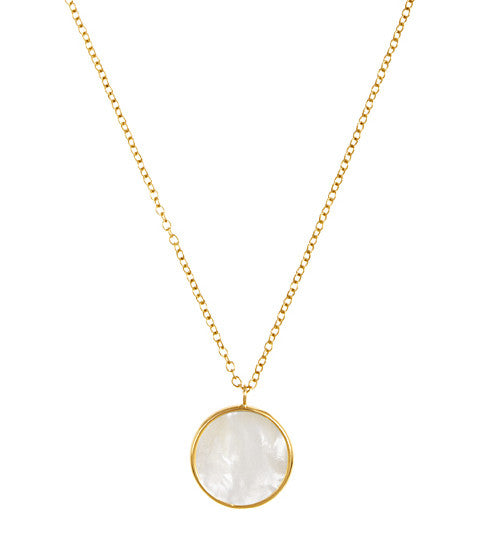 Mother of Pearl Pendant in 14k Gold