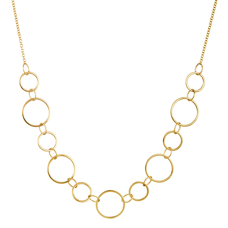 14k Gold Circle Necklace