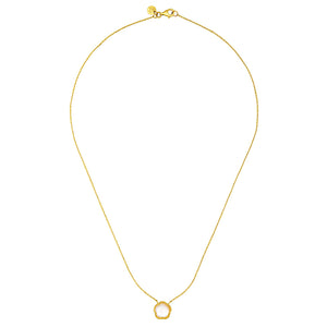 14k Gold Necklace with Mother-of-Pearl Pendant