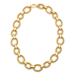 Gold Mixed Link Necklace, SOLD