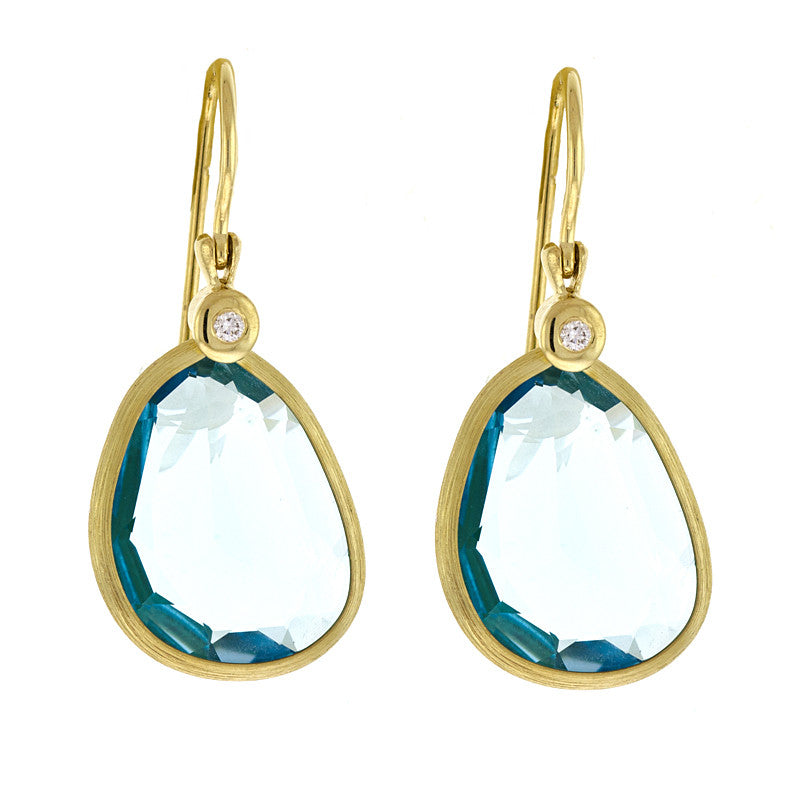 Blue Topaz Earrings, SOLD