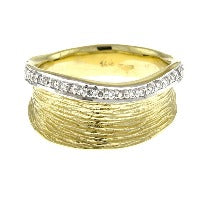Italian Hammered Gold Diamond Bangle Bracelet, SALE, SOLD