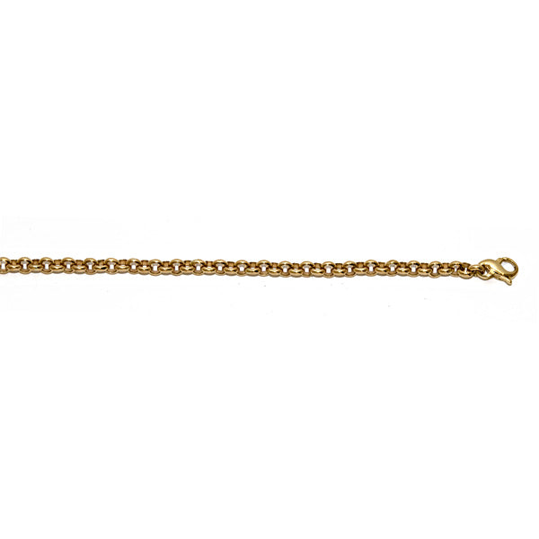14K Yellow Gold Solid Rolo Link Chain