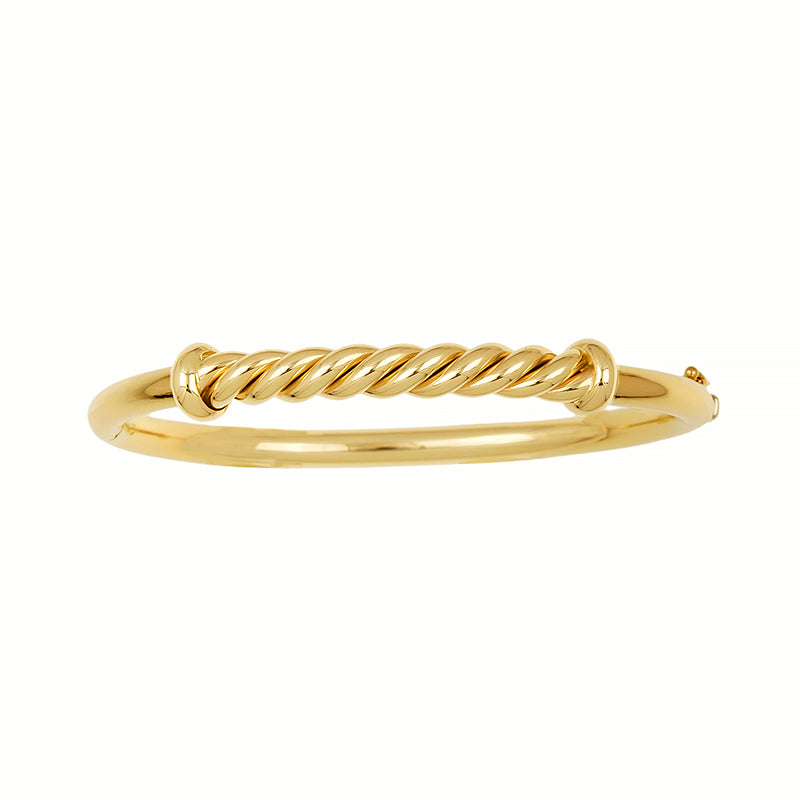 14K Yellow Bangle Bracelet