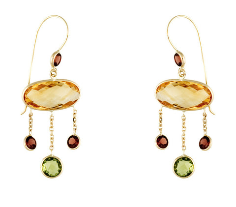 Gemstone Earrings. SALE