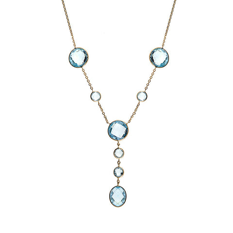 Blue Topaz Necklace, SOLD
