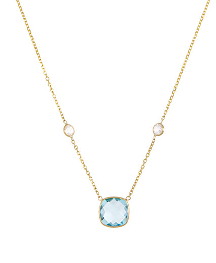 Blue Topaz and Moonstone Necklace, SALE
