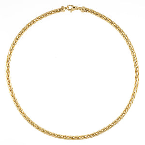 Yellow Gold Wheat Chain