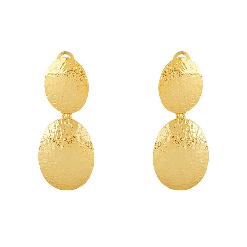 14k  Hammered Gold Earrings, SOLD