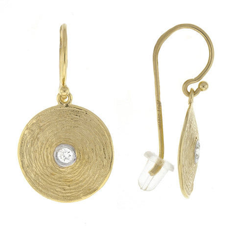 18K Textured Gold Dome Earrings