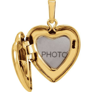 Gold Heart Locket with Diamond