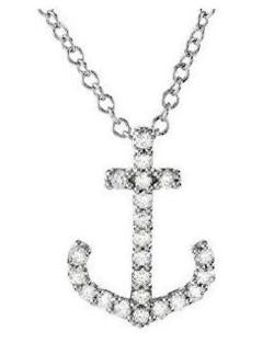 Diamond Anchor Pendant on Chain,SOLD