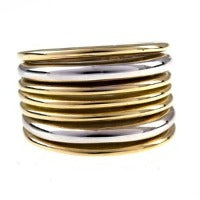 Italian Gold Multi-Color Band Ring