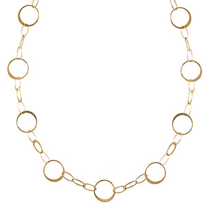 18K Yellow Gold Chain Necklace, SOLD