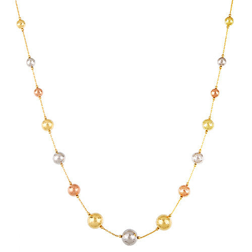 18k Yellow, Rose and White Gold Necklace, SOLD