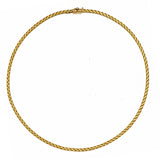 18K Yellow or White Basket-Weave Collar Necklace