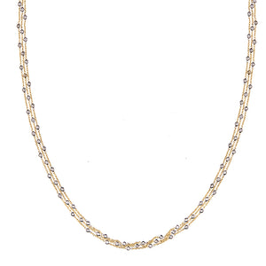 Triple Chain Diamond Necklace, SOLD