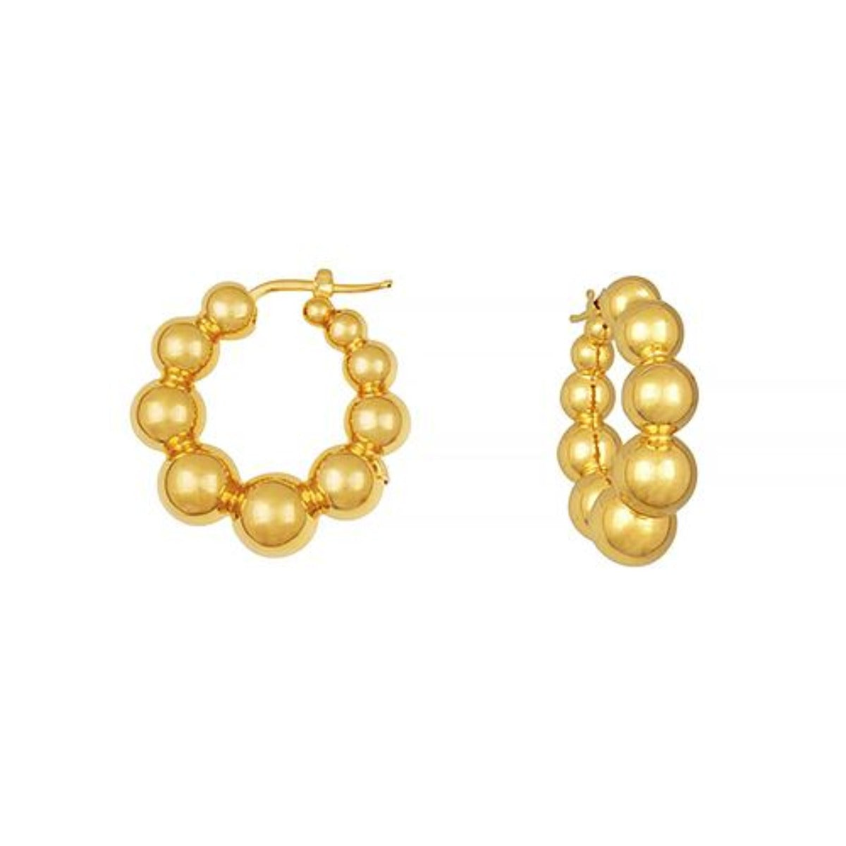 18k Gold Mod Hoop Earrings, SOLD