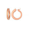 18K White or Rose Gold Hoop Earrings