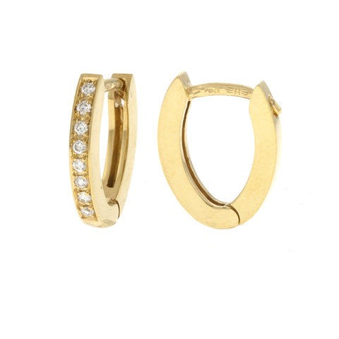 Diamond Halo Earrings in Yellow Gold