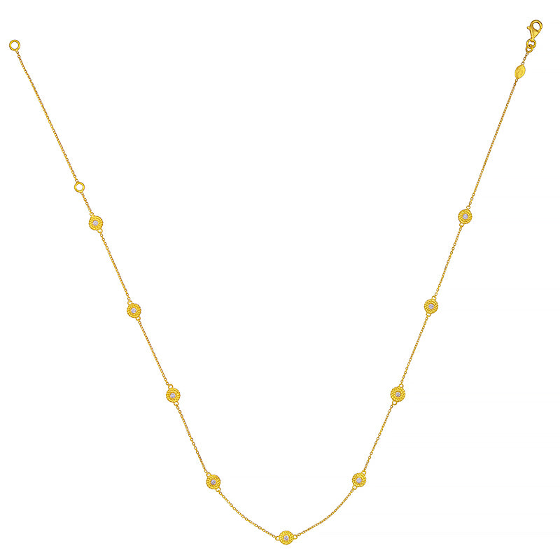 18K Gold Chain Diamond Necklace