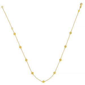 18K Gold Chain Diamond Necklace, SOLD