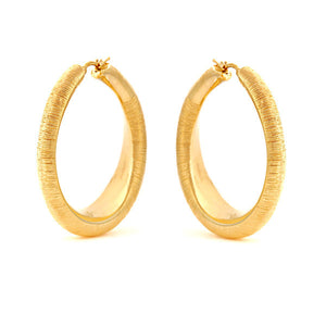 18K Textured Gold Hoops, SALE,SOLD