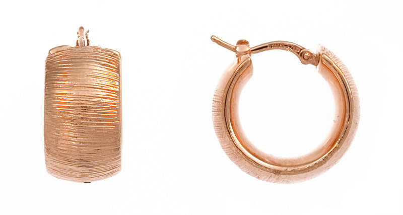Italian Rose Gold Hoops Deleuse Fine Jewelry Couture