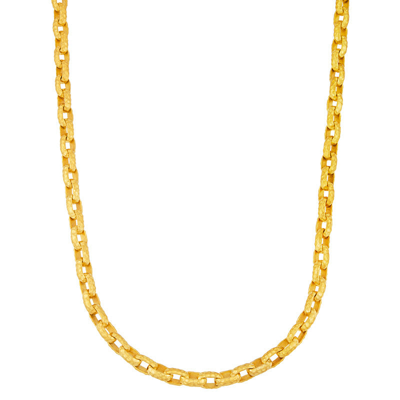18k Yellow Gold Hammered Links