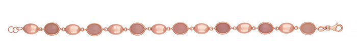 18k Rose Gold Pink Opal Bracelet, SOLD