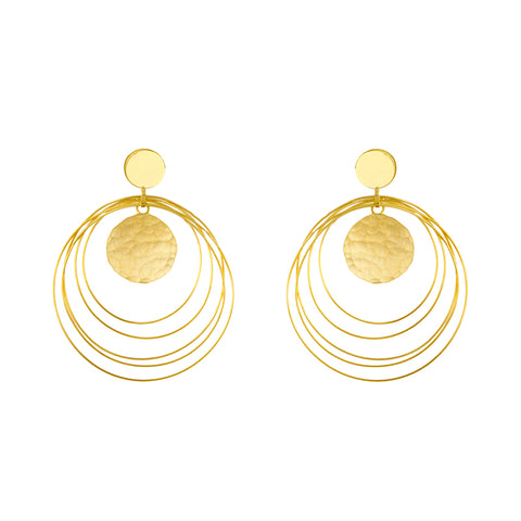 18K Hammered Gold Earrings