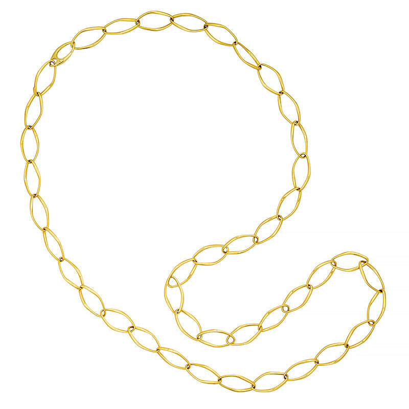 18K Open Link Necklace