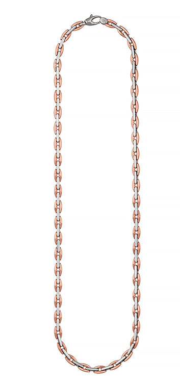 18k Rose and White Gold Chain Necklace, SOLD