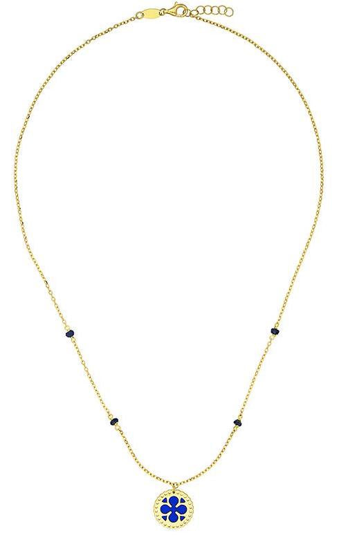 18k Gold Necklace with Enamel, SOLD