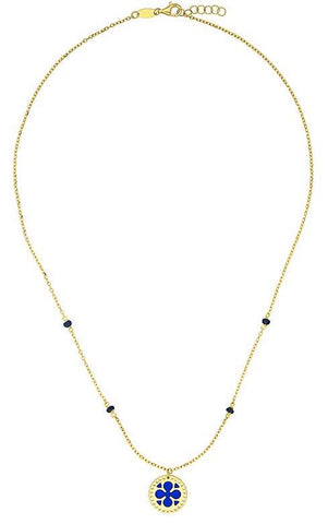 18k Gold Necklace with Enamel