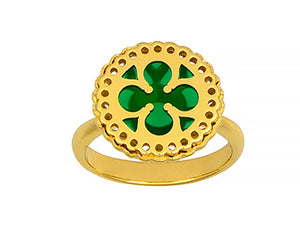 18K Gold Enameled Ring, SALE, SOLD