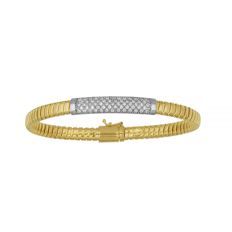 18K Yellow, White or Rose Gold Diamond Bracelet