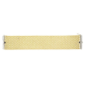 18K Gold Mesh Bracelet with Diamonds, SALE, SOLD