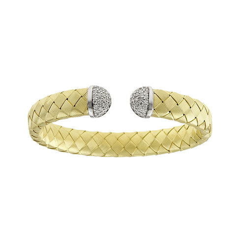 18K Gold and Diamond Cuff Bracelet
