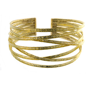 18k Hammered  Gold Cuff Bracelet, SUPER SALE, SOLD