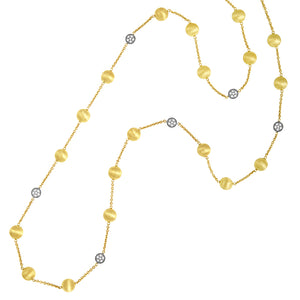18k Gold and Diamond  Chain Necklace